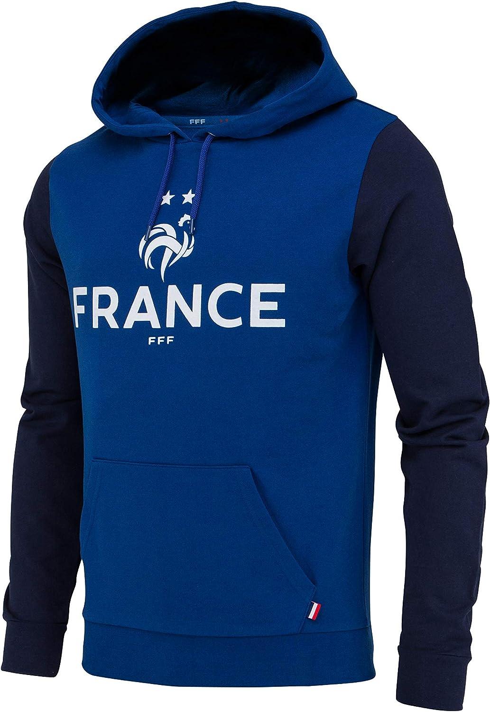 Sudadera con Capucha de la selección Francesa de fútbol FFF, colección Oficial, Talla de Hombre: Amazon.es: Deportes y aire libre