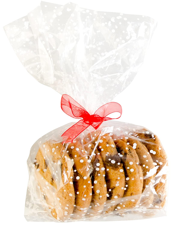Premium Cellophane Treat Bags/ Cookie Bags - Set of 20 - Bonus 101 Cooking Tips
