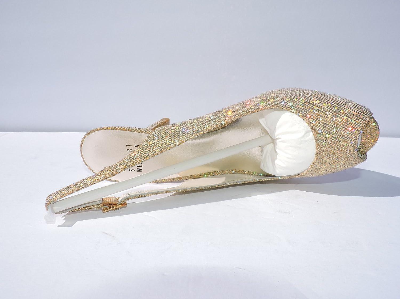 Stuart Weitzman Womens Litely Aura Mini Glitter