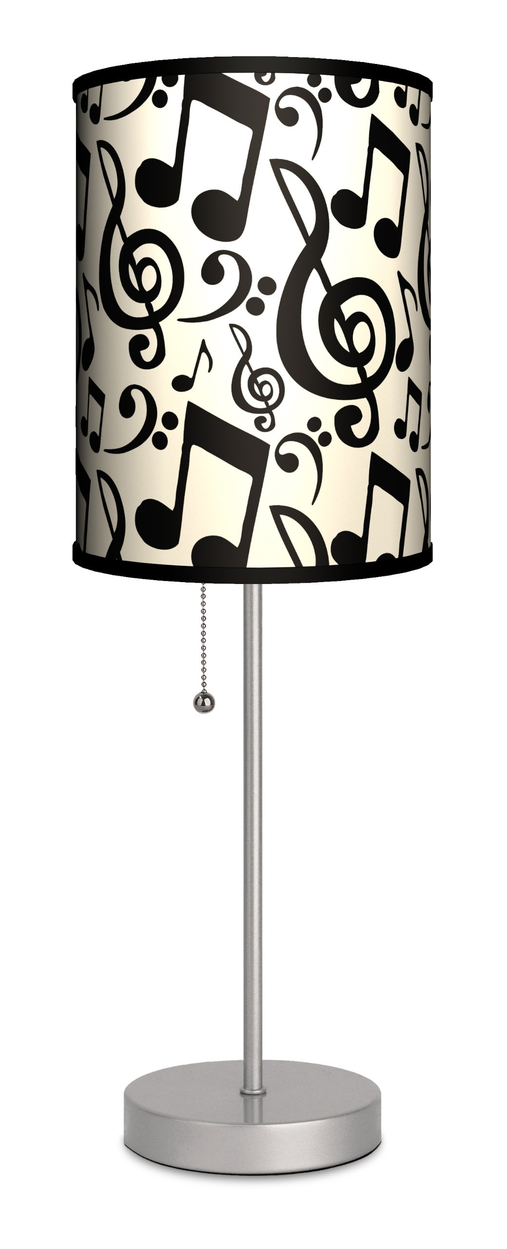 Lamp-In-A-Box SPS-MUS-NOTAT Music Sport Silver Lamp