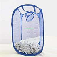 Kuber Industries Nylon Mesh Laundry Basket