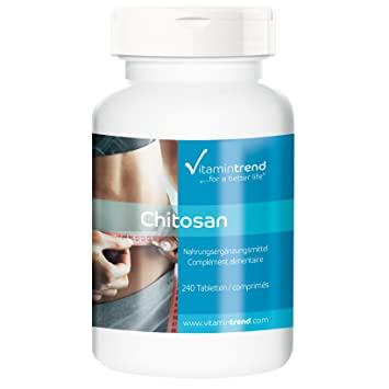 Chitosán 500mg - Quitosano - 240 tabletas - bloqueador de grasa - para adelgazar - calidad alemana - ¡Bloquea la grasa!: Amazon.es: Salud y cuidado personal