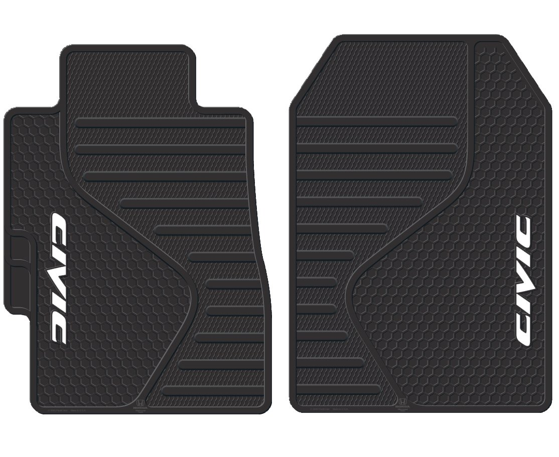 custom logo o prelude products mats honda black part floor fit
