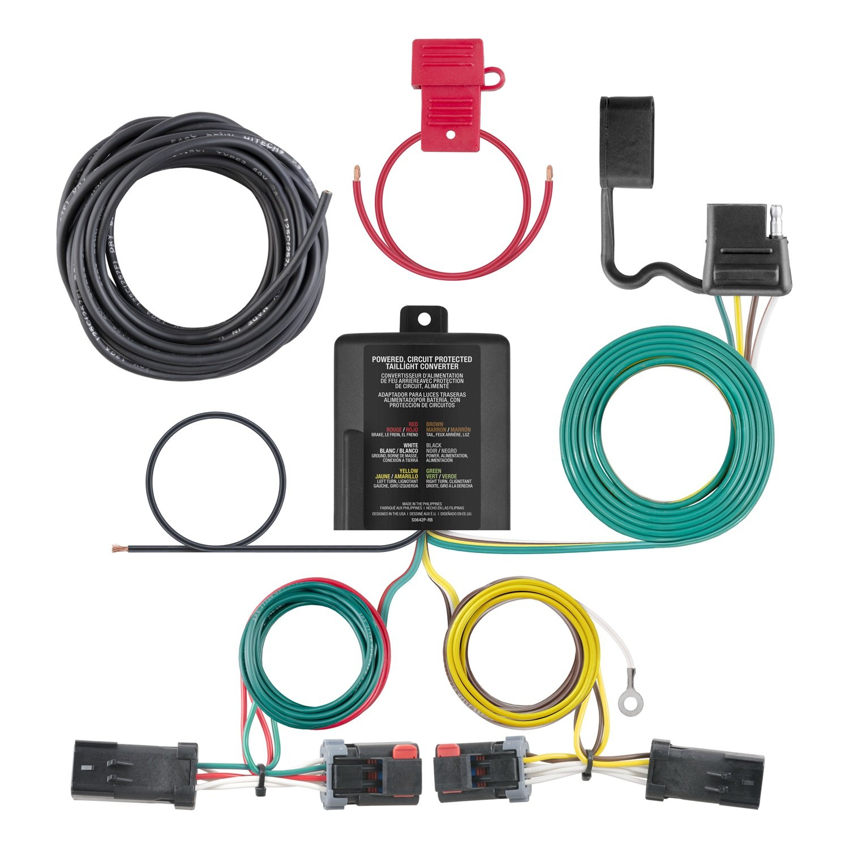 Amazon.com: CURT 56344 Custom Wiring Harness 2-Wire System 4-Way Flat  10-Amp Max Custom Wiring Harness: Automotive