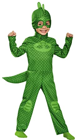 UHC Disney Gekko Classic PJ Masks Jumpsuit Child Halloween Costume, Toddler M (3T-