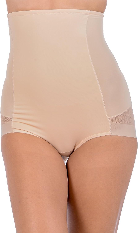Patricia Lingerie Womens Hi-Waist Laser Cut Tummy Control Shapewear Brief Panty