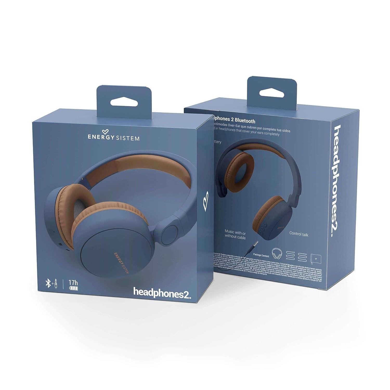 Energy Sistem Headphones 2 - Bluetooth Headset Blue  Amazon.co.uk   Electronics b4a6fc2d8c