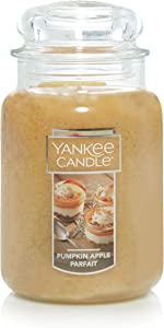 Yankee Candle Pumpkin Apple Parfait Scented Premium Paraffin Grade Candle Wax with up to 150 Hour Burn Time, Large Jar