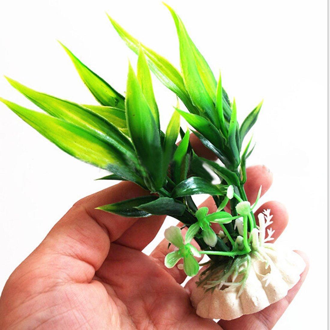Luwu-Store Plantes artificielles en Plastique Compatible pour Aquarium Fiah Tank Ornements décoration-Vert SHOMLU4466