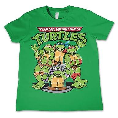 584fa64d9 Amazon.com: Teenage Mutant Ninja Turtles TMNT Group Official Unisex Kids T  Shirts Ages 3-12 Years: Clothing