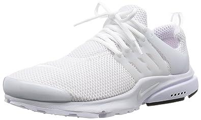 NIKE Men's Air Presto White/White/Black Running Shoe 10 Men US