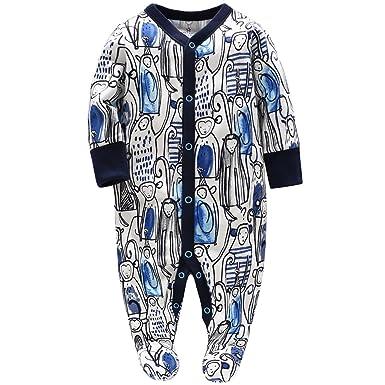 Bebé Niños Peleles Mamelucos de Algodón Pijama Monos de ...