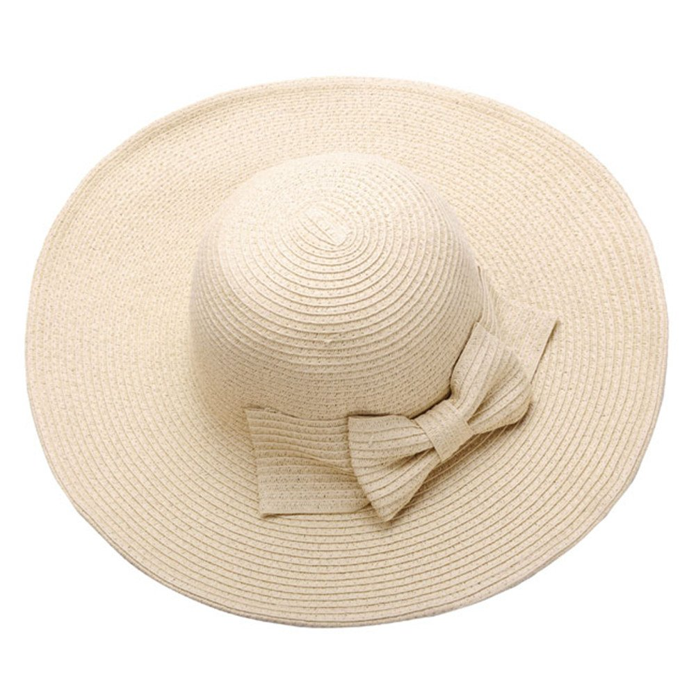Ayliss Women Floppy Derby Hat Wide Large Brim Beach Straw Sun Cap AAUS09803