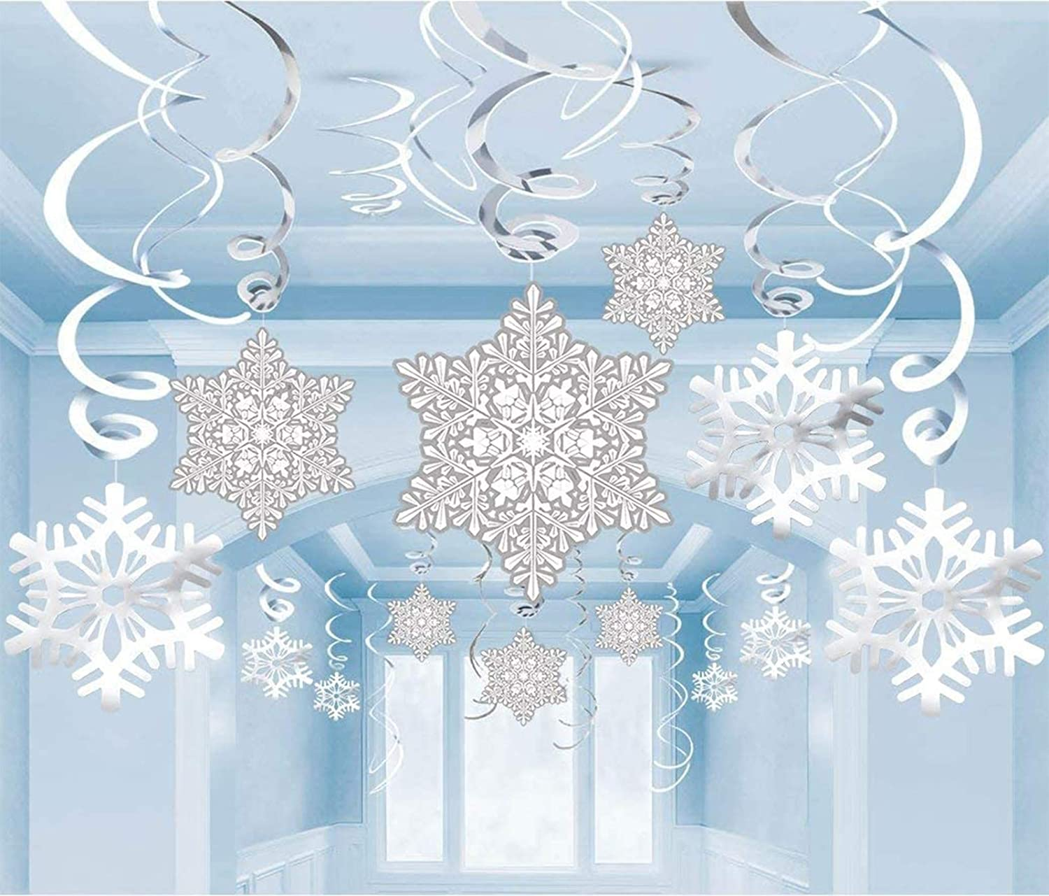 Moon Boat 40Ct Christmas free shipping Snowflake - Swirl favorite W Decorations Hanging