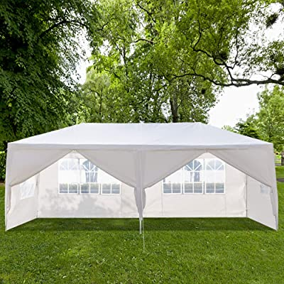 Outdoor Party Tent, Portable Wedding Tent Patio Tent Garden Tent Carport Patio Gazebo BBQ Shelter, Heavy Duty Canopy Waterproof UV Protection Tent with Removable Sidewalls (10 X 20 ft, 6 Sidewalls) : Garden & Outdoor