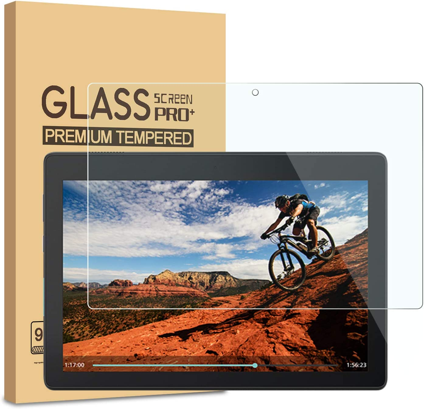 [2 Pack] Lenovo TAB E10 Screen Protector, KATIAN HD Clear Protector [Anti-Scratch] [No-Bubble] [Case-Friendly], 9H Hardness Tempered Glass Screen Film for Lenovo TAB E10(TB-X104F)