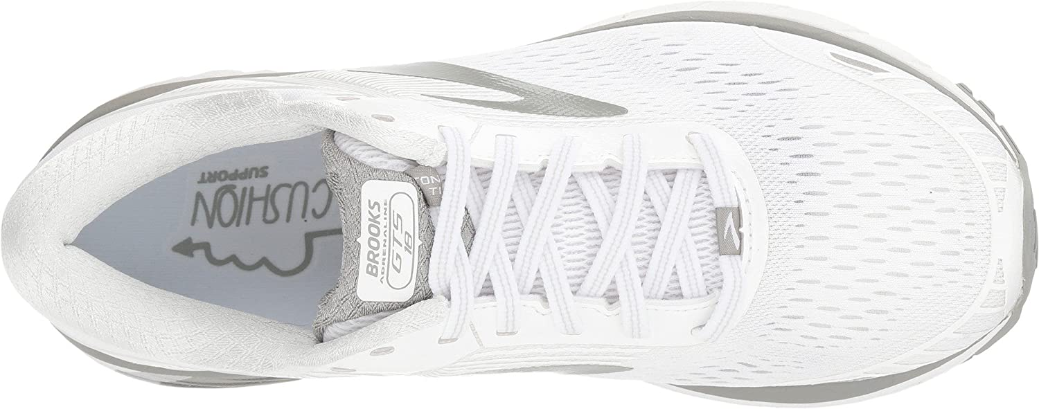 Brooks B0722W3R3P Womens Adrenaline GTS 18 B0722W3R3P Brooks 5.5 D US|White/White/Grey 366ec4