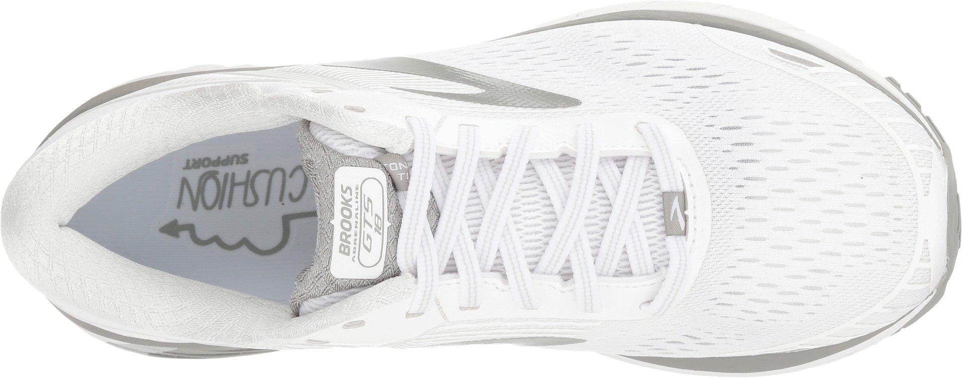 Brooks Women's Adrenaline GTS 18 White/White/Grey 5 D US by Brooks (Image #2)