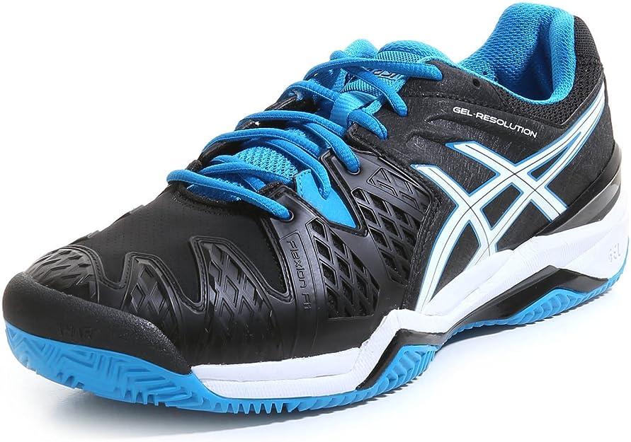 Asics Resolution 6 Clay, Zapatillas de Tenis para Hombre, Negro (Black/Blue Jewel/White), 45 EU: Amazon.es: Zapatos y complementos