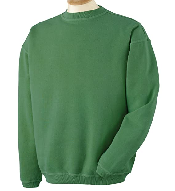 0451df8e9f8 Authentic Pigment 11 oz Pigment-Dyed Ringspun Fleece Crew Sweatshirt 11561  green Small