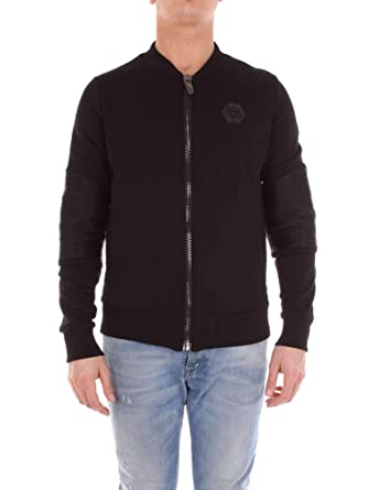 eb1bb29790d Philipp Plein Homme Mjb0277pjo002n02 Noir Coton Sweatshirt  Amazon ...