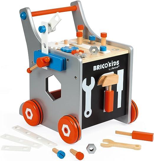 Janod- BricoKids Carrito Magnético de Bricolaje, Multicolor, 37 x 35 x 44 cm (Jura Toys J06478): Amazon.es: Juguetes y juegos