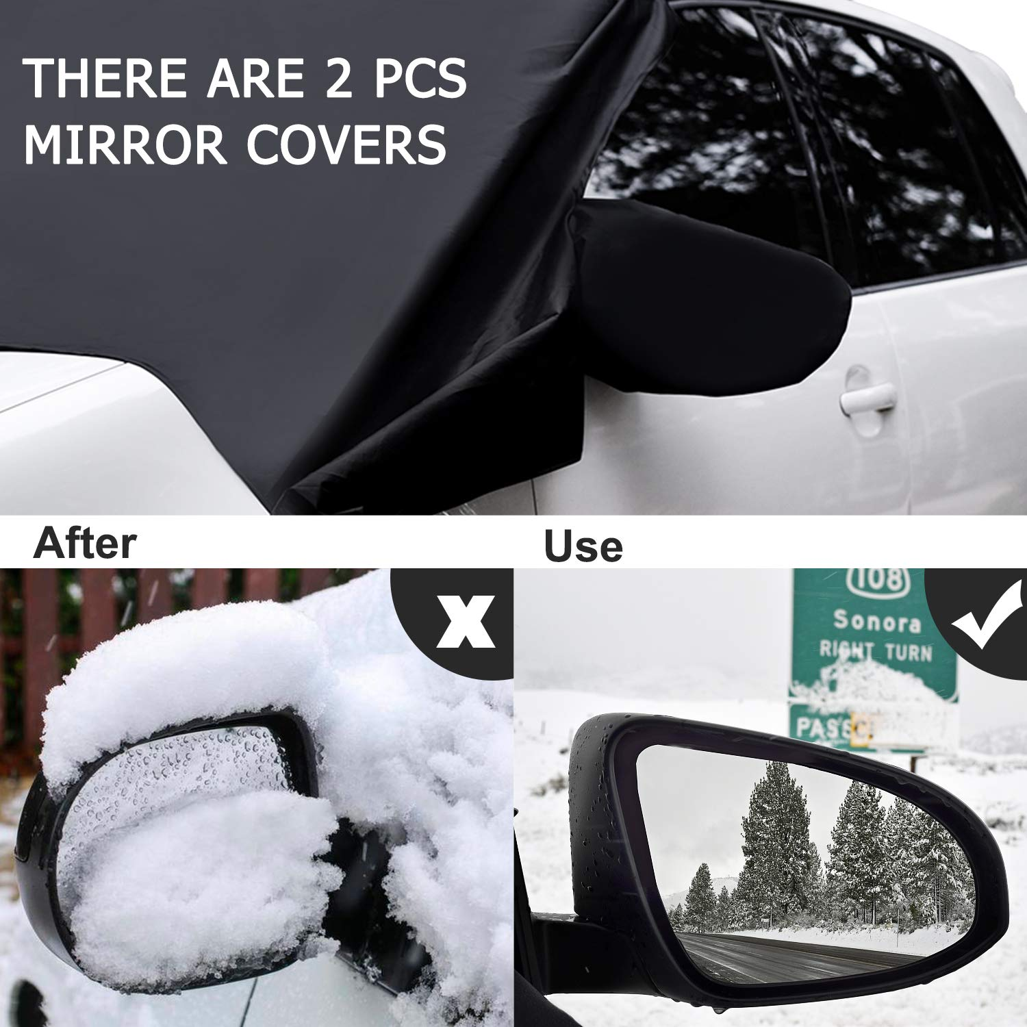Adoric Life Material Waterproof No Scratches Snow Cover