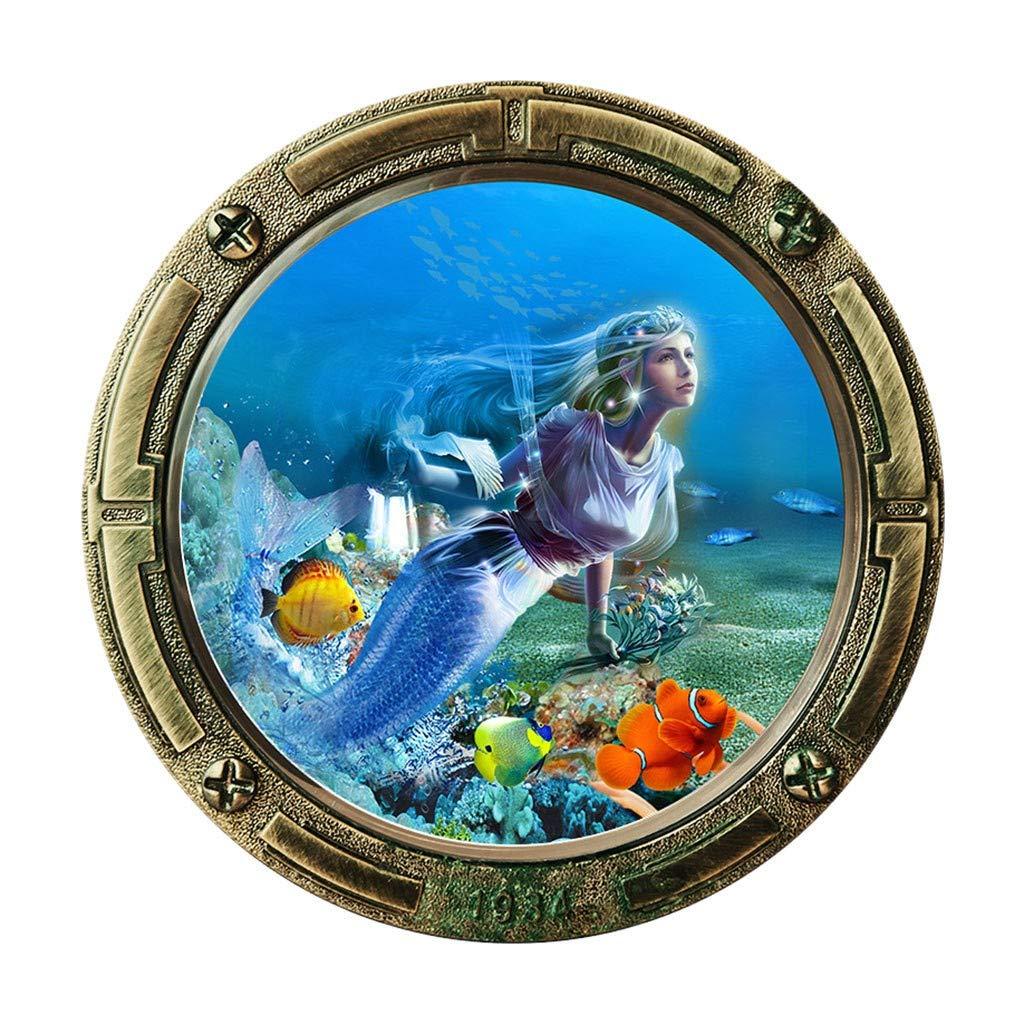 XQXCL 3D DIY Undersea World Wall Sticker Removable Mural Decals Vinyl Art Room Decor Five Models