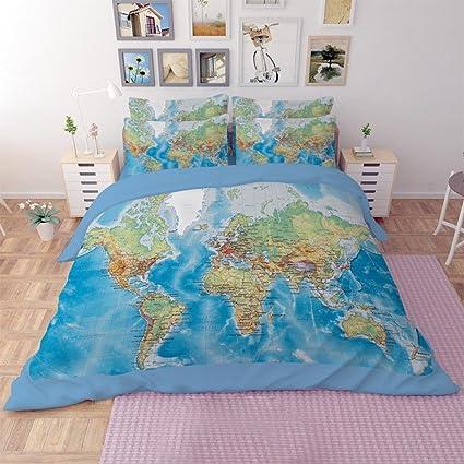 ropa de cama 3 Piezas Poliéster / Algodón Diseño Estampado reactivo Poliéster / Algodón Gemela /