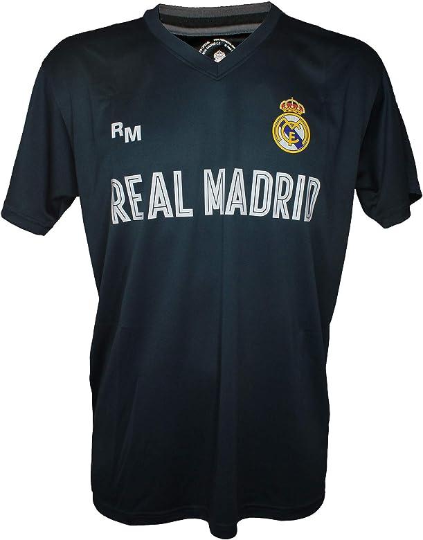 Camiseta Attack Infantil Real Madrid Producto Oficial Azul Petroleo - Segunda Equipacion (6 Años): Amazon.es: Ropa y accesorios