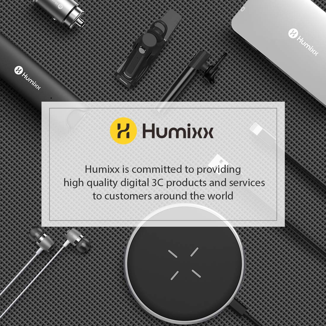 Humixx Selfie Stick, Buletooth 4-in-1 Extendable Selfie Stick Tripod 360° Rotation, Rechargeable Wireless Remote Shutter Compatible with iPhone XR/XS Max, Samsung S10+, Huawei P30, Go Pro and Cameras by Humixx (Image #8)
