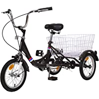 MOPHOTO 14 inch 16 inch Trikes for Beginner Riders, Small Tricycle Single Speed 3 Wheel Bikes, Low Step Through Three…