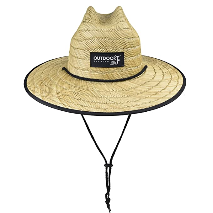 d2d27855412de Men s Wide Brim Lifeguard Straw Sun Hat