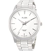 Alba Stainless Steel Band Analog Watch for Men - Silver