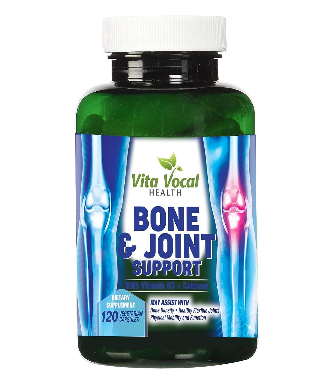 Bone and Joint Supplement Vitamin with D3 K2 + Calcium, Magnesium, Promotes Bone Density 120 Veggie Caps for Men and Women