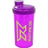 Runtime Shaker pour protéines | Gourde Sport pour la nutrition et le fitness | Contenance 700 ml | avec tamis - 100% hermétique | sans bisphénol A - avec échelle de mesure (Neon Purple)