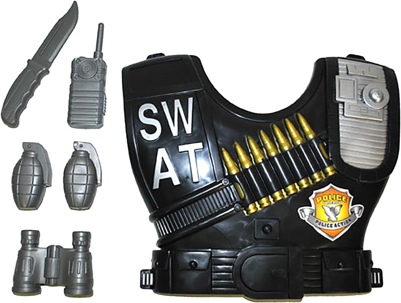 Fasching Fete – SWAT Disfraz chaleco con accesorio Juego de Arma ...