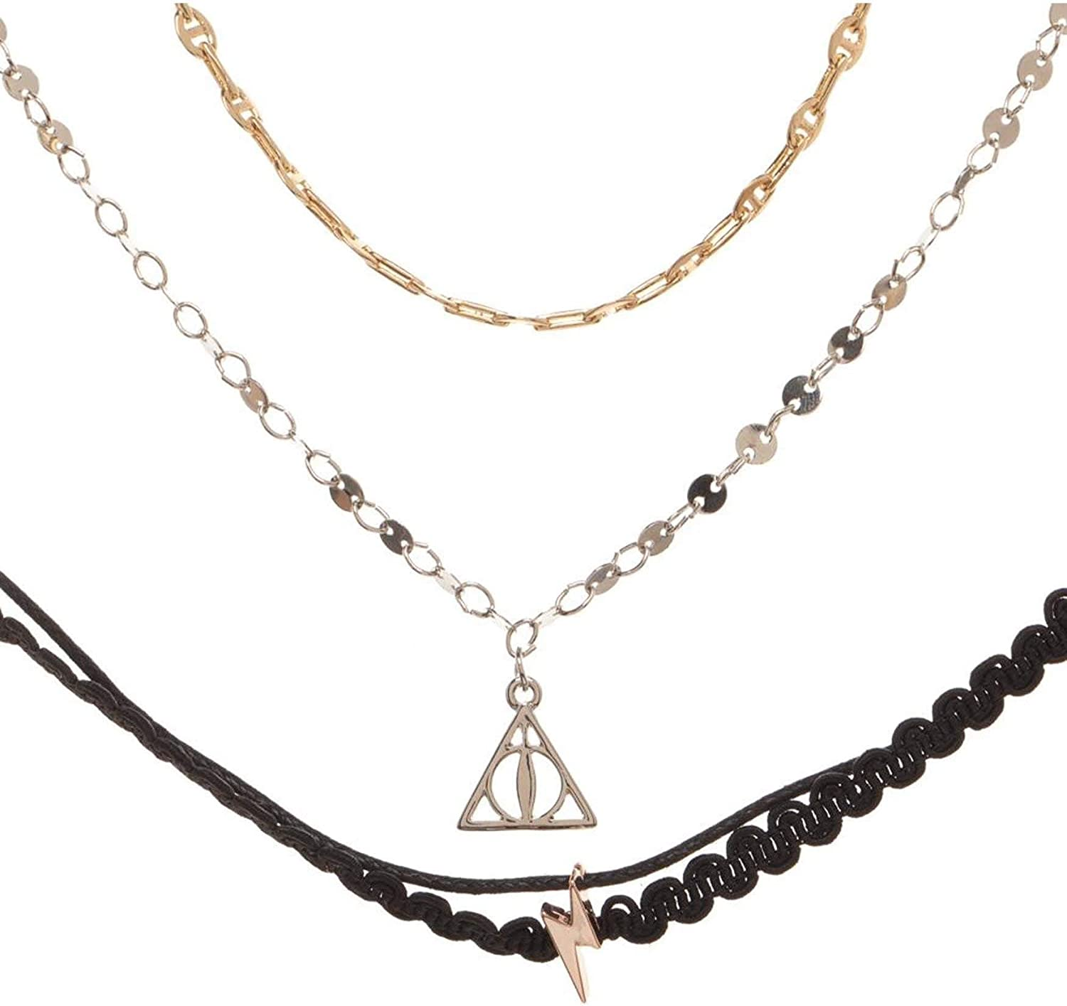 Bioworld Merchandising / Independent Sales Harry Potter 3 Pack Choker Necklace Set Standard: Amazon.es: Joyería