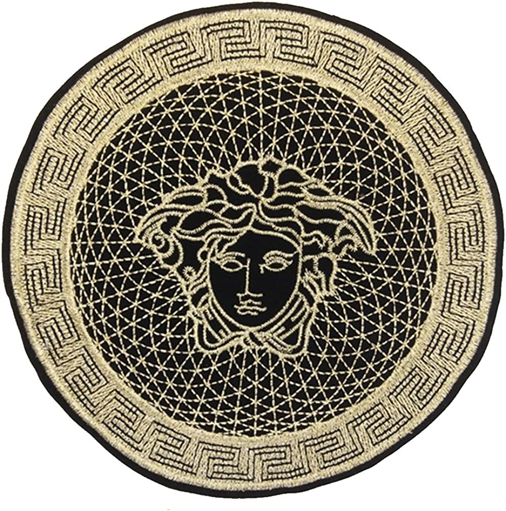 24x24 cm//10x10 inches Patches Pack Hand Iron On Sewing On Embroidered Patch Clothes Stickers Garment DIY Apparel Appliques Decal Sticker Sun Goddess