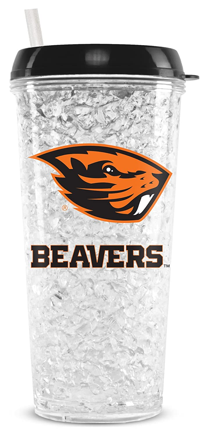NCAA Oregon Ducks 16oz Crystal Freezer Tumbler with Lid and Straw