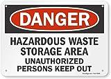 """SmartSign """"Danger - Hazardous Waste Storage"""