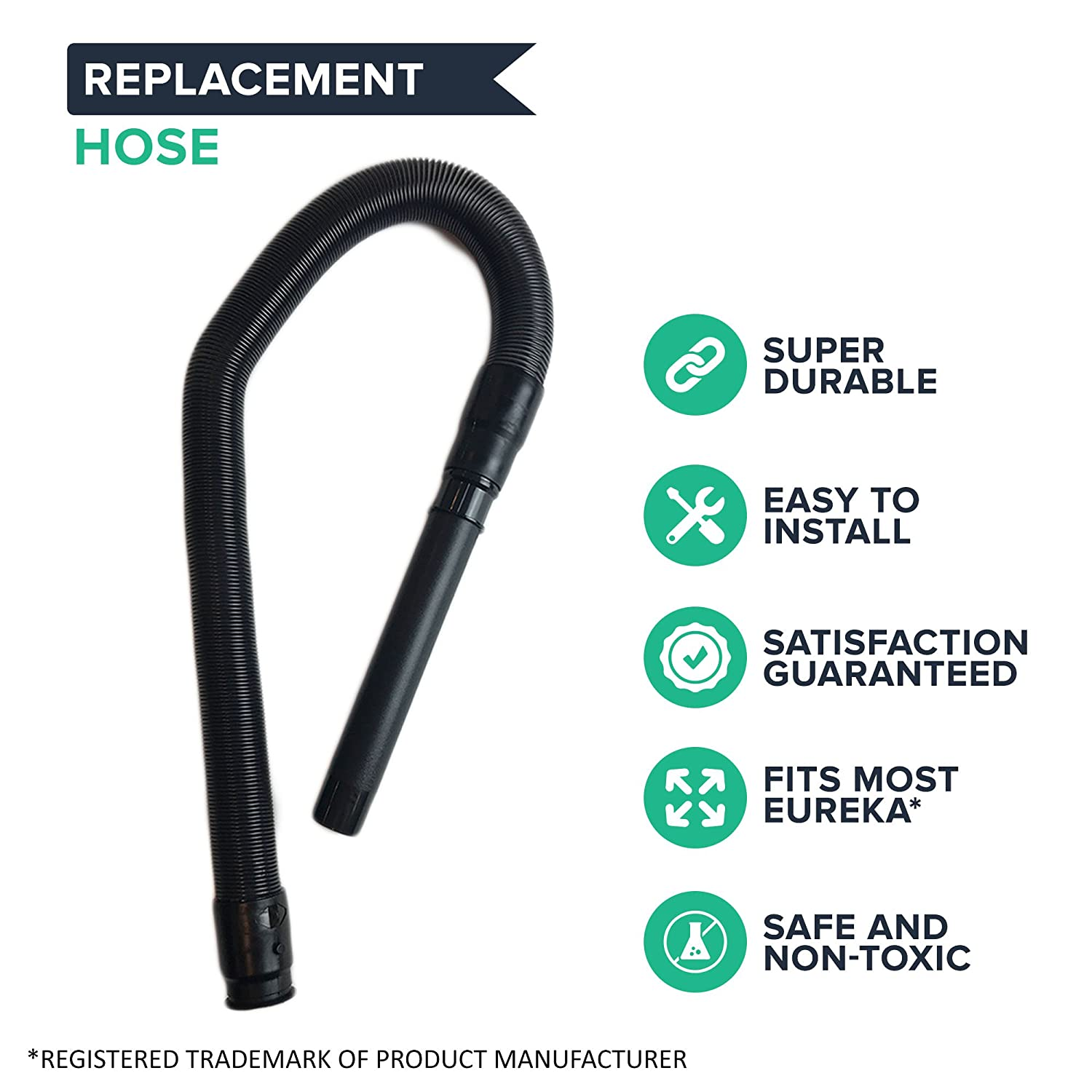 Amazon.com - Replacement for Eureka Smart Vac Hose Fits Whirlwind 4870  Smart Vacs, Compatible With Part # 61247-1, by Think Crucial -