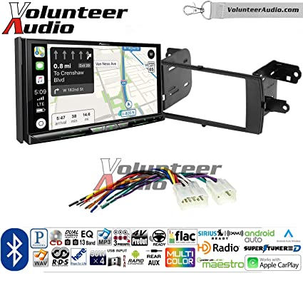 Volunteer Audio Pioneer AVIC-W8400NEX Double Din Radio Install Kit with Navigation, Apple CarPlay