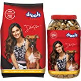Drools Chicken and Egg Adult Dog Food, 3 kg with Free 900 gm Biscuits