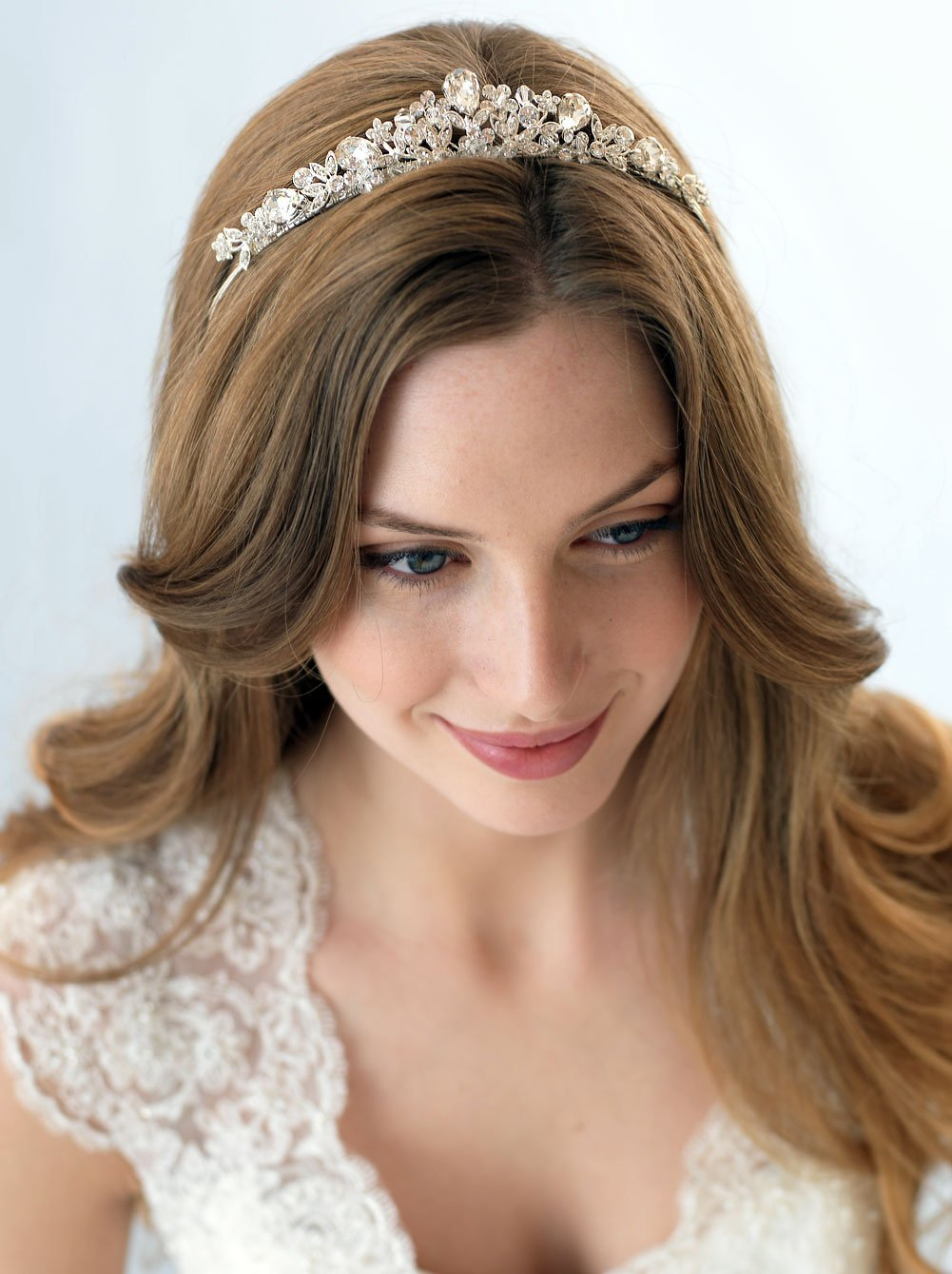 USABride Swarovski Crystal & Rhinestone Bridal Tiara Crown for Weddings 3008