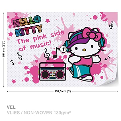 Hello Kitty Wall Mural Photo Wallpaper Room Decor 1811ws