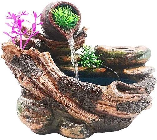 Knoijijuo Hogar y jardín Fuentes Decorativas Mesa de Interior de Fuentes de Mesa con el Feng Shui Adornos Decorativos de Resina Adornos: Amazon.es: Hogar