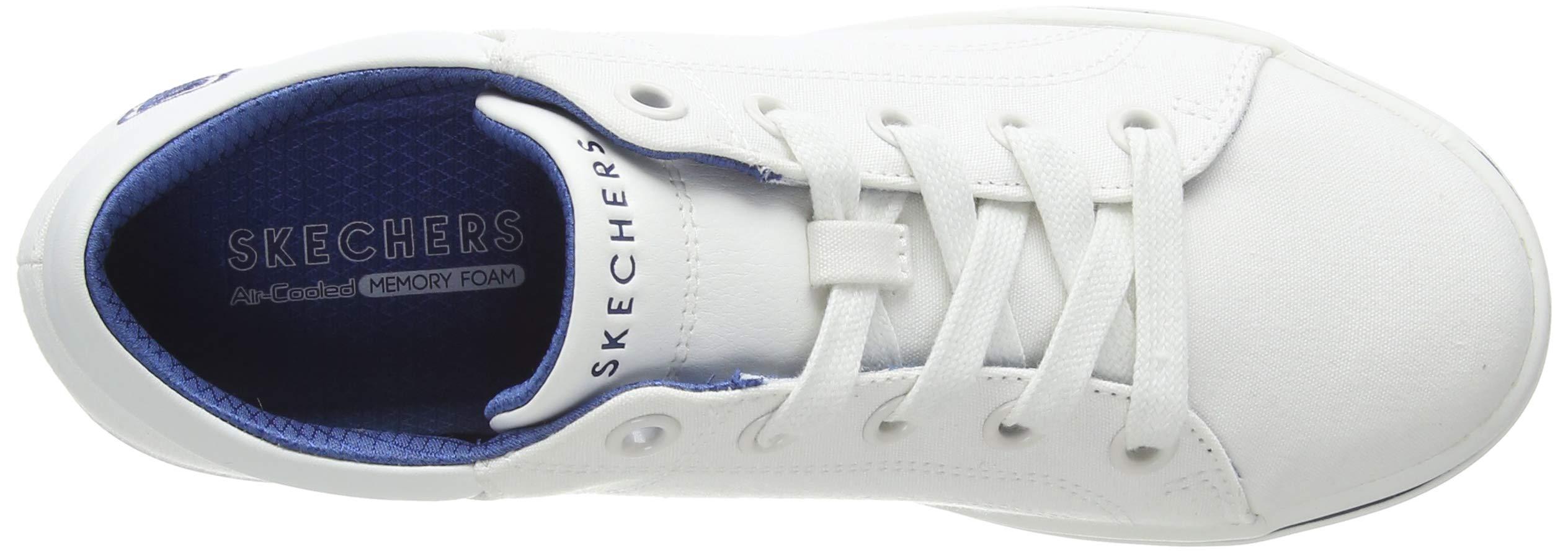 Skechers Women's Street Cleat. Canvas Contrast Stitch Lace Up Sneaker
