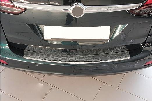 Protector maletero Zafira C cromo acero inoxidable: Amazon.es: Coche y moto