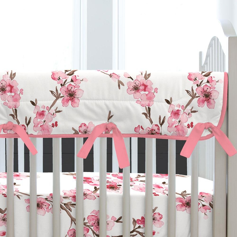 Carousel Designs Cherry Blossom Crib Rail Cover by Carousel Designs